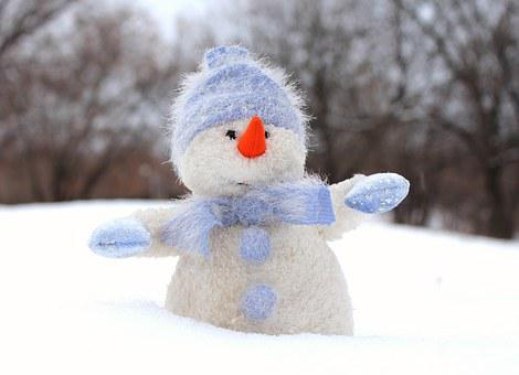 Snowman, Snow, New Year's Eve, Cap, Winter, Christmas