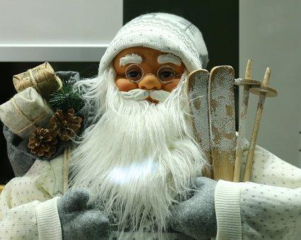 Santa Claus, Christmas, Advent, Christmas Gifts, Ski