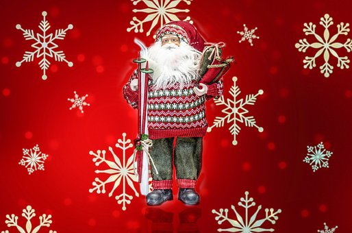 Santa, Toy, Christmas, Claus, Doll, Father, Close-up