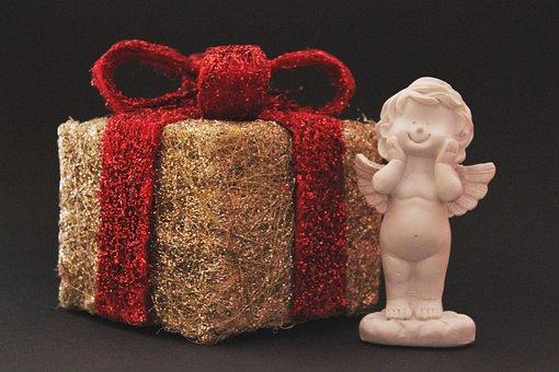 Gift, Angel, Loop, Decoration, Packed, Packaging