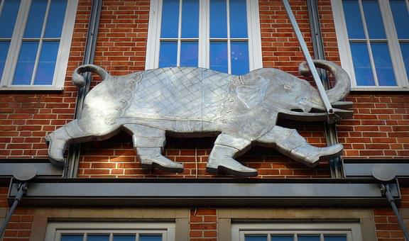 Elephant, Symbol, Emblem, Wall, Design, Logo