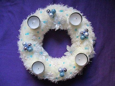 Advent Wreath, Wreath, Door Wreath, 1, Advent