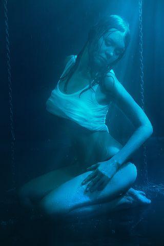 Wet Girl, In The Studio, Sexy, Erotic, Nude, Breast