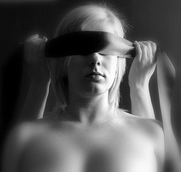 Woman, Blind, Light, Erotica, Sadomasochism, Blonde