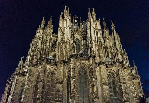 Church, Cologne, Dom, Facade, Landmark, Historic Center