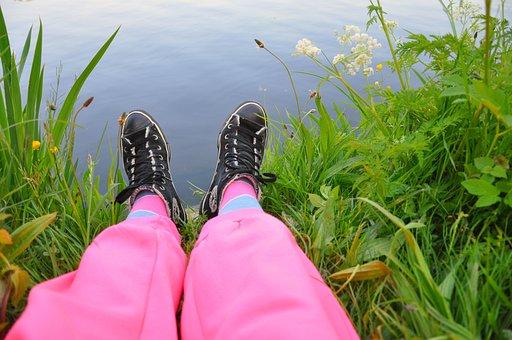 Leg, Foot, Body, Woman, Female, People, Relaxing, Shoe