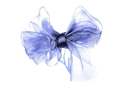 Blue, Bow, Ribbon, Gift, Reward, Satin, Tied, Knot