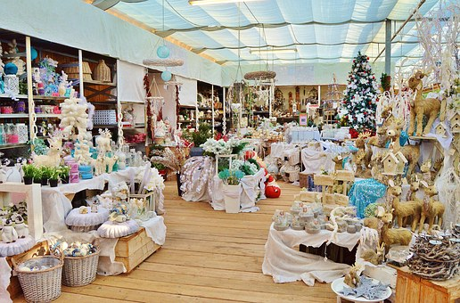 Christmas Bazaar, Advent, Gifts, Decoration, Purchasing