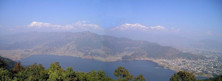 Pokhara, Nepal, Phewa See, Himalayas, Mountains