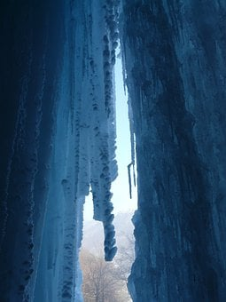 Ice Curtain, Icicle, Ice Formations, Cave, Cold
