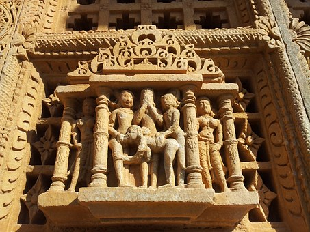 India, Temple, Erotic, Stone, Temple Figures, Holy