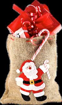 Isolated, Christmas Sack, Gifts, Christmas, Gift Boxes