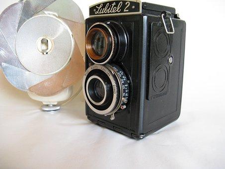 Old Camera, Old Flash Light, Kindermann, Photo Camera