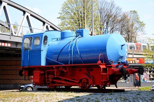 Locomotive, Exhibition, Places Of Interest, Hamburg