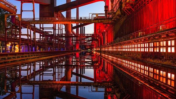 Zollverein, Night Photograph, Long Exposure, Night