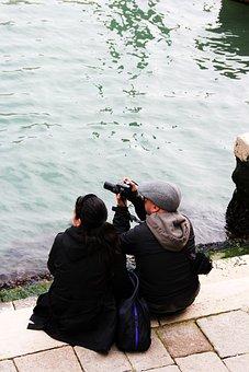 Photograph, Photographer, Camera, Photography, Man, Cap