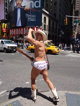 Times Square, New York, Naked Cowboy