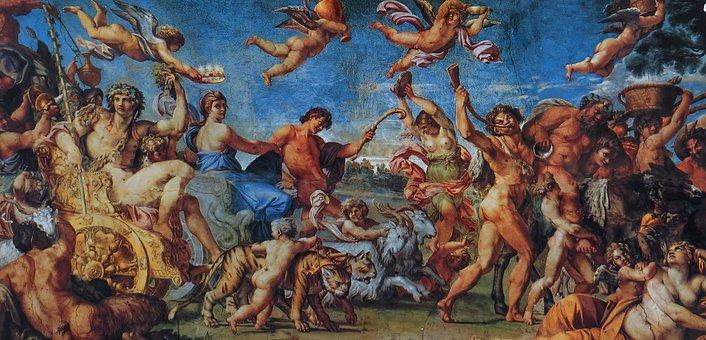 Painting, Oil Painting, Artwork, Gods, Naked