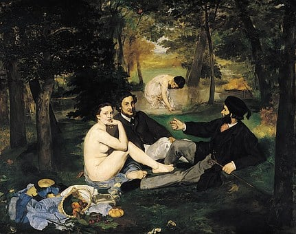 Painting, édouard Manet, Breakfast, Herbs