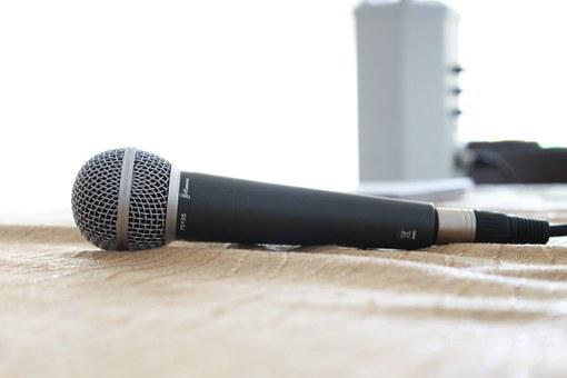 Microphone, Sound Studio, Recording, Music, Sing