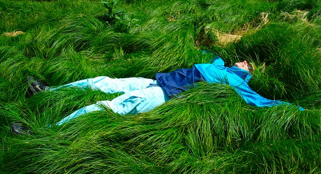 Woman, Lying, Grass, Female, Person, Relaxation