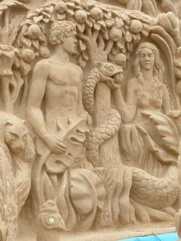 Moscow, Russia, Capital, Sculpture, Sand
