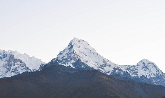 Mountain, Peak, Snow, Nature, Landscape, High, View