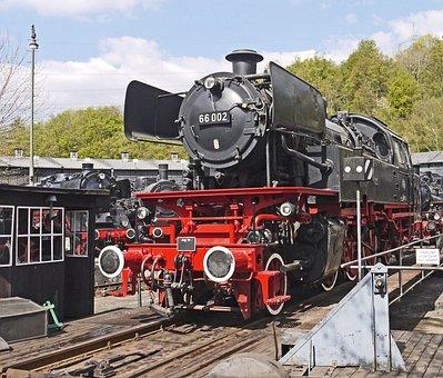Steam Locomotive, Star, Museum, Bochum, Hub