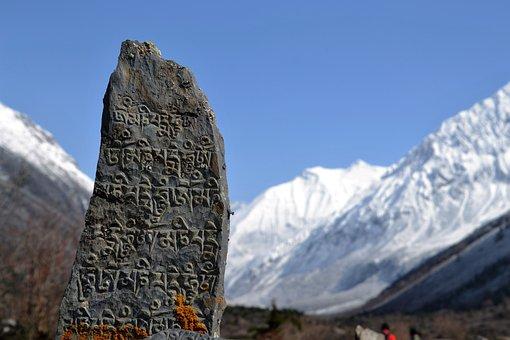 Himalayas, Nepal, Stone, Mountain, Nature, Snow