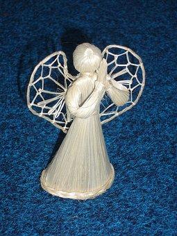 Angel, Straw, Decoration, Symbol, Christmas, Season