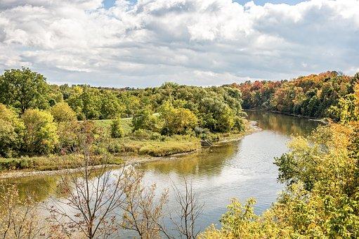The Grand River, Waterloo, Ontario