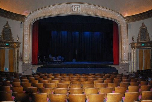 Theatre, Theater, Stage, Curtain, Drama, Theatrical