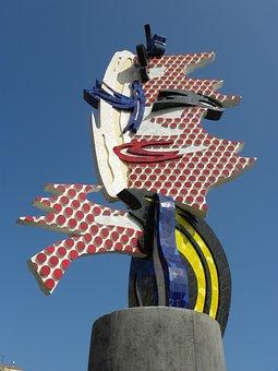 Sculpture, Barcelona, Spain, Architecture, Travel