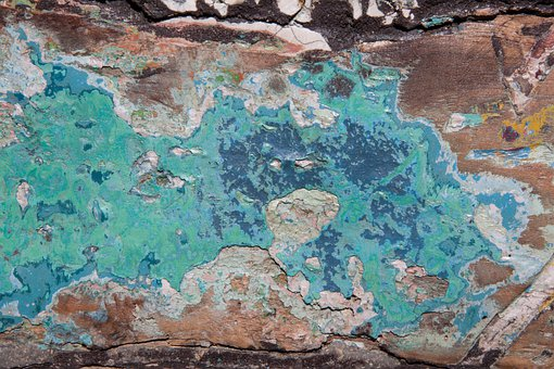 Colorful, Color, Turquoise, Old, Wood, Painted