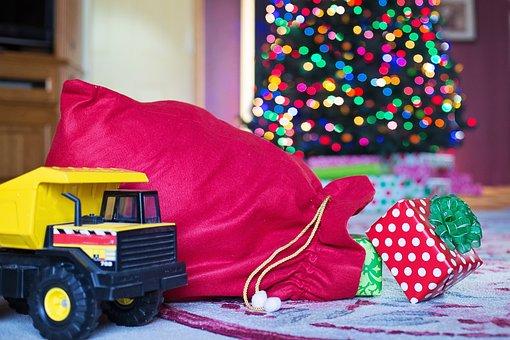 Gifts, Christmas, Xmas, Santa's Sack, Holiday