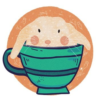 Rabbit, Bunny, Cup, Hare, Tea, Coffee, Baby, Funny