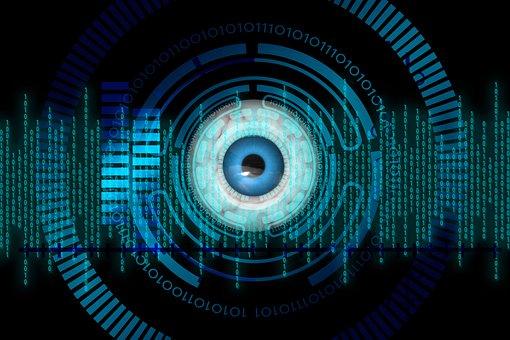 Eye, Biometrics, Binary Code, Binary, Binary Number