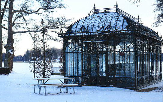 House, Building, Glass, Fantasy, Snow, Winter