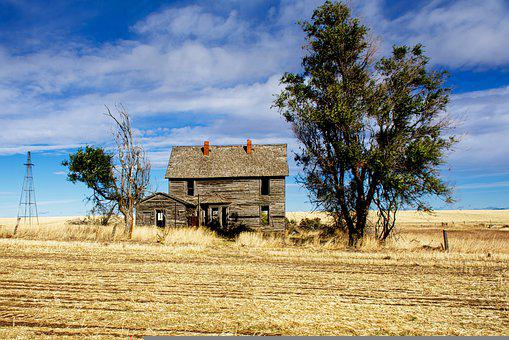 Farm, Field, Abandoned Building, Farm House, House
