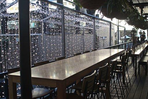 Australia, Lights, Table, Lunch, Diner