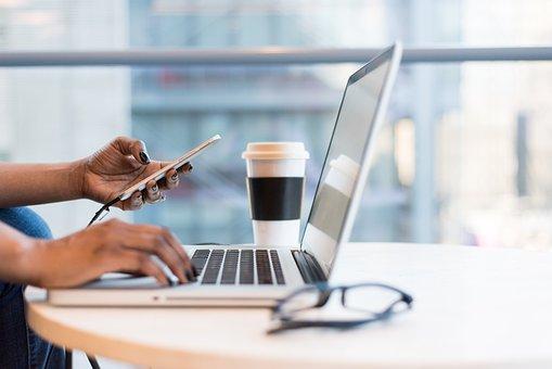 Laptop, Glasses, Office, Business, Work, Online Job