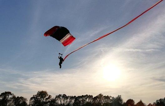 Paratrooper, Parachute, Parachutist, Skydiving, Sport