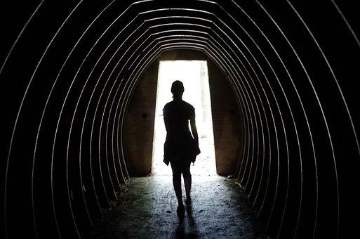 Ghost, Shadow, Path, Doorway, Door, Fantasy, Lonely