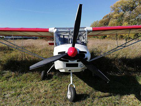 Aircraft, Propeller, Field, Aviation