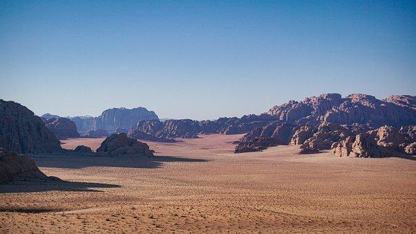 Desert, Sand, Mountains, Canyon, Jordan, Petra, Travel