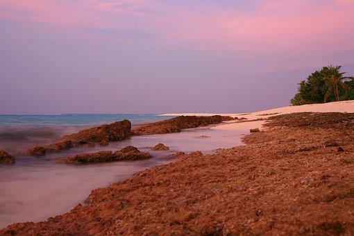 Maldives, Beach, Sea, Horizon, Sky