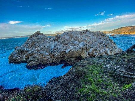 Point Lobos, Sea, Hill, Coast, Rocky Coast, Ocean