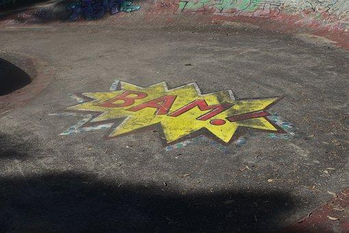 Australia, Chalk, Art, Skate Park, Skateboarding