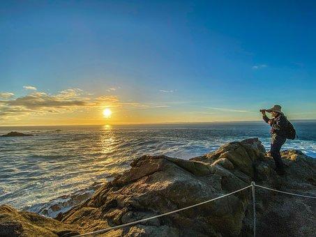 Point Lobos, Sea, Sunset, Coast, Rocky Coast, Coastline