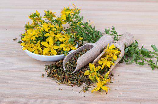 Saint John's Wort, Flowers, Tea, Scoop